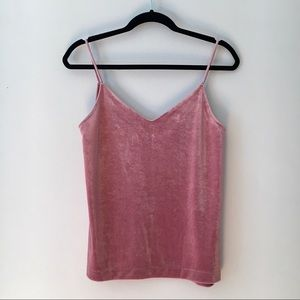 Dusty Pink Velvet Rag & Bone Tank